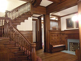 Alfred Horatio Belo House - Staircase inside the mansion.