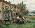 Daniel Ridgway Knight - Coffee in the garden.jpg