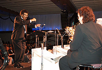 Smithsonian Jazz Masterworks Orchestra - David Baker leading the Smithsonian Jazz Masterworks Orchestra during the NEA Jazz Masters awards ceremony and concert in 2008