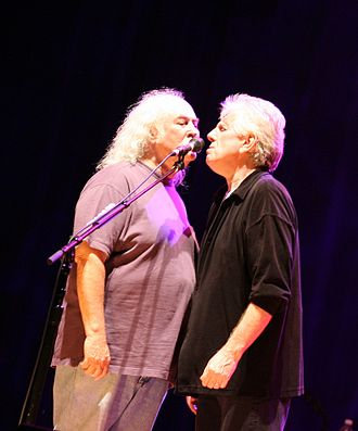 Crosby & Nash - Crosby and Nash singing while touring in 2006 with Crosby, Stills, Nash & Young