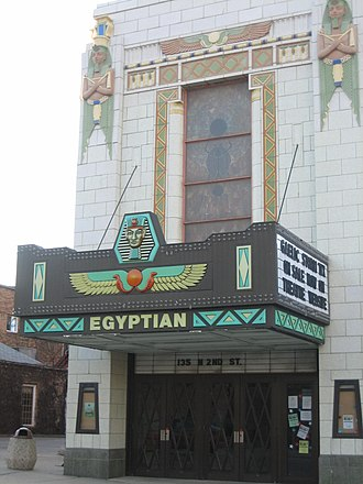 DeKalb, Illinois - The Egyptian Theatre in Downtown DeKalb.