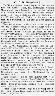 De Telegraaf vol 032 no 12038 Avondblad Mr. C. W. Margadant †.jpg