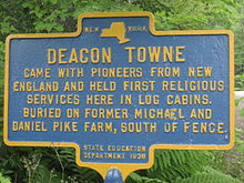 Deacon Towne held first religious services in McDonough, NY