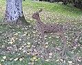 Deer sculptures, Canonteign Falls, nr Exeter (30479192564).jpg