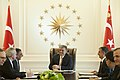 Defense.gov News Photo 111216-D-BW835-005 - Secretary of Defense Leon E. Panetta meets with Turkish President Abdullah Gul and Minister of Defense Ismet Yilmaz in Ankara Turkey on Dec. 16.jpg