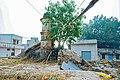 Demolition of a part by local inhabitents. Tulsian Bawri Jhunjhunu.jpg