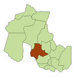 Location of the Tumbaya Department