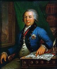 Portrait de Gavrila Romanovich Derzhavin