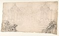 Design for a Festival Display of Fireworks (recto); Small Figures by a different hand (verso) MET DP811931.jpg