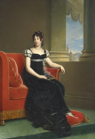 Désirée Clary - As Crown Princess of Sweden, wearing the Nationella dräkten, by R Lefévre.