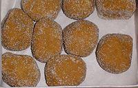 Tray of 9 fried-dough rolls