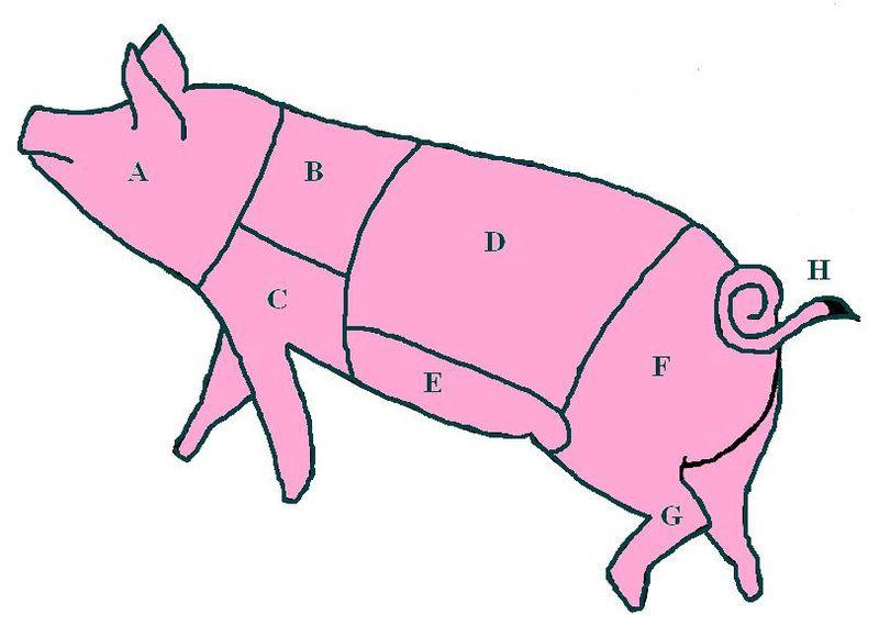 Filediagram Of Pork Cuts On A Pigg Wikipedia
