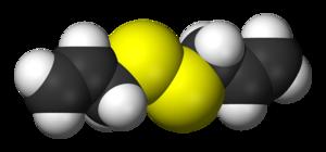 Diallyl disulfide - Image: Diallyl disulfide 3D vd W