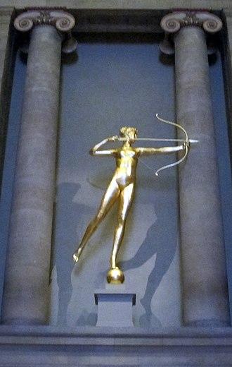 Diana (Saint-Gaudens) - Second version of Diana (restored, 2013-14), Philadelphia Museum of Art.
