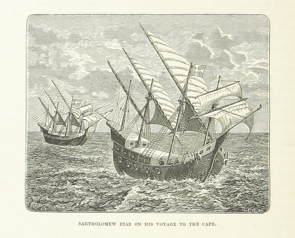 Diaz on his voyage to the cape