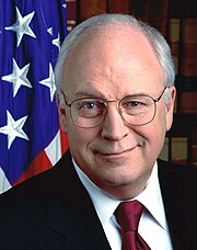 Earlier official photograph of vice president Cheney, circa 2001.