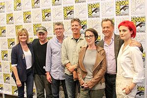 Dig (TV series) - Dig panel—writer Carol Barbee, co-creator Gideon Raff, producer Richard Rothstein, co-creator Tim Kring, director S.J. Clarkson, actors David Costabile, and Alison Sudol—at San Diego Comic Con 2014.