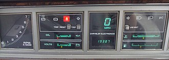 Electronic instrument cluster - Digital instrument cluster from a 1984 Dodge 600
