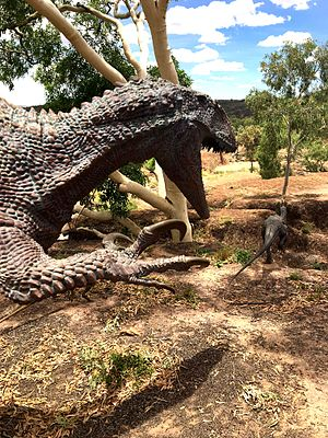 Australian Age of Dinosaurs - Dinosaur Stampede exhibit