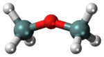 Ball-and-stick model of the disiloxane molecule