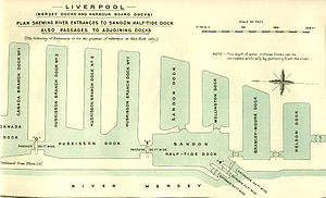 Huskisson Dock - British Empire Dockyards and Ports, 1909