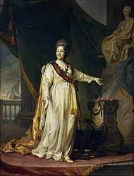 Dmitry Levitzky: Catherine II the Legislatress in the Temple of the Goddess of Justice