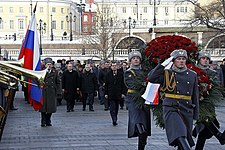 Dmitry Medvedev at Defender of the Fatherland Day in 2011.jpg
