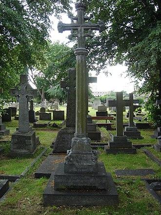 Sir Donald Stewart, 1st Baronet - Funerary monument, Brompton Cemetery, London