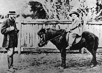 Wyaga Homestead - Donald Gunn with son Donald at Wyaga Station, circa 1862