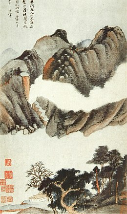 Dong Qichang. Eight Scenes in Autumn.3. Album leaf. 1620. Shanghai Museum..jpg