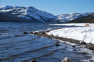 Donner Lake - Standing on North East shore, looking across towards Donner Pass