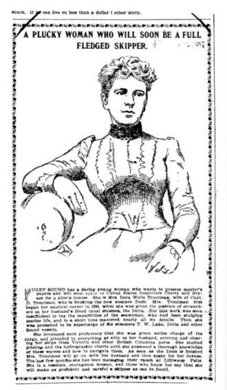 Dode (steamboat) - Capt. Dora Wells Troutman