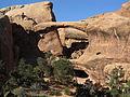 Double O Arch, Devils Garden Trail, Arches National Park, Moab, Utah (9099687843).jpg