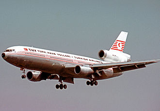 Turkish Airlines - THY Douglas DC-10 in 1974 wearing the airline's initial colour scheme.