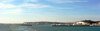 Dover - The Port of Dover and the white cliffs of Dover