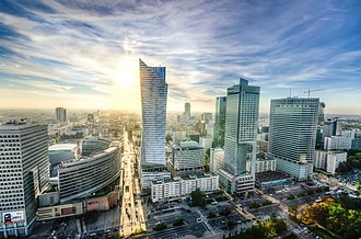 Economy of Poland - Image: Downtown Warsaw