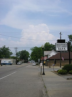 Main Street in Bedford, Kentucky