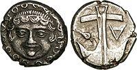 Drachme d'Apollonia Pontica représentant la Méduse.jpg