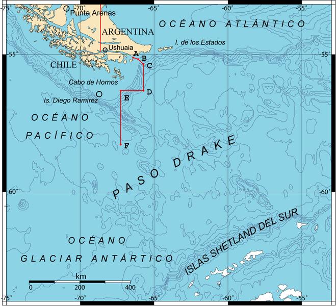 Localización Cabo de Hornos