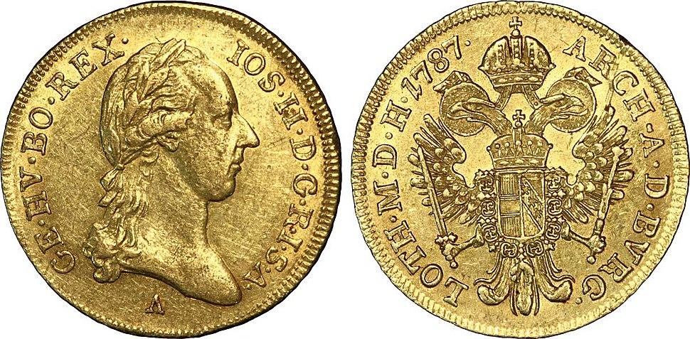 Ducat d'or à l'effigie de Joseph II, 1787