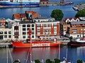 Dunkerque Belfried Blick vom Turm auf Sandettié.jpg