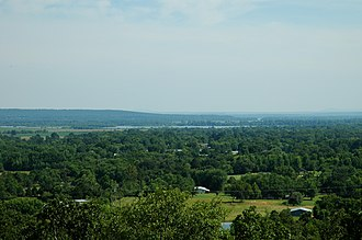 Dyer, Arkansas - Outskirts of Dyer with Arkansas River in the background, July 2005