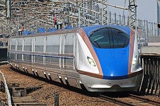 Jōetsu Shinkansen - Image: E7 F4 Asama 522 Omiya 20140419