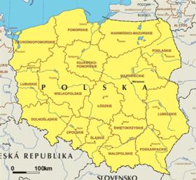 poljska mapa Poljska   Wikipedia poljska mapa
