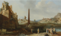 EXTENSIVE ITALIANATE LANDSCAPE WITH THE FINDING OF MOSES.PNG
