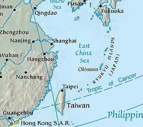 """""""Tensión en los mares de China"""" - texto de Higinio Polo - publicado en El Viejo Topo en diciembre de 2012 280px-East_China_Sea_Map"""
