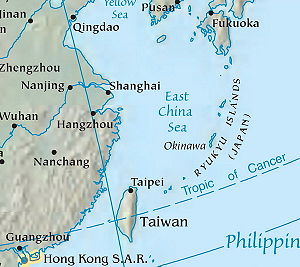 East China Sea - Image: East China Sea Map