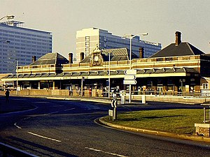 Wettern House - East Croydon station in 1967, with Wettern House behind