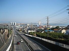 Tuyến quốc lộ 247 đi qua một phần thành phố Gamagōri, tỉnh Aichi.