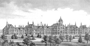 Clinton Valley Center - Eastern Michigan Asylum, c. 1876